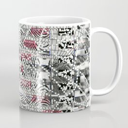 A Virtual Two By Four (P/D3 Glitch Collage Studies) Coffee Mug