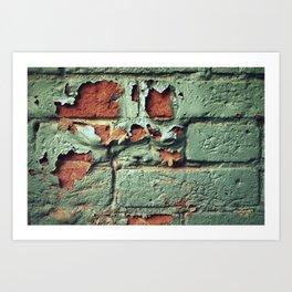 Brick Reveal Art Print