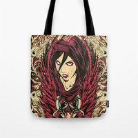 rogue Tote Bags featuring Rogue by Tshirt-Factory