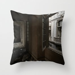 The Hall, abandoned palace Throw Pillow
