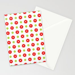 wheel and abstraction 3 red and green Stationery Cards