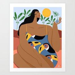 Where the wild toucans live Art Print