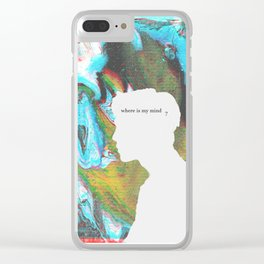 Where is my mind? Clear iPhone Case