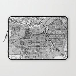 Vintage Map of Ottawa Canada (1915) BW Laptop Sleeve