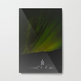 Aurora Borealis. || Northern Light in Iceland. || Travel Shots. Metal Print