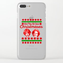 Golden Girls Christmas Clear iPhone Case