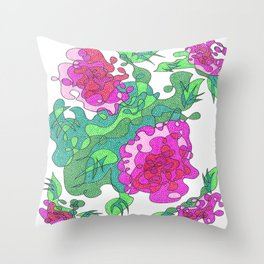 Abstract Floral #1 Throw Pillow