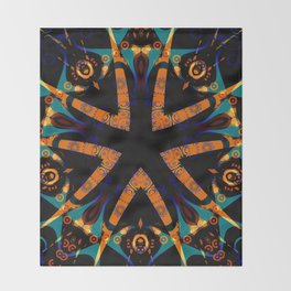Tribal Geometric Throw Blanket
