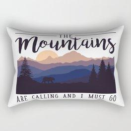 The Mountains Rectangular Pillow