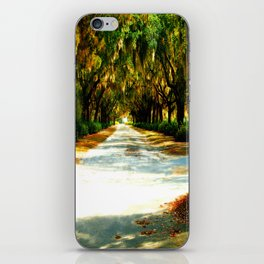 Walking The Moss Trail photography iPhone Skin