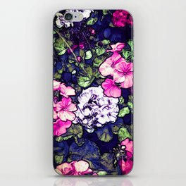 Pink Geraniums, Goddess Energy iPhone Skin