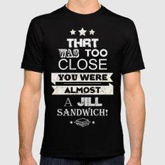 Jill Sandwich MEDIUM Black Mens Fitted Tee