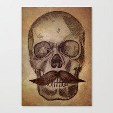 Skull Mustache Canvas Print