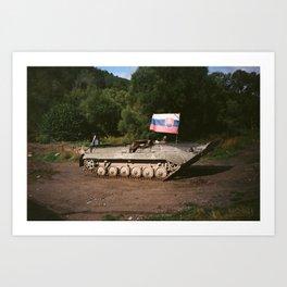 Slovak tank Art Print