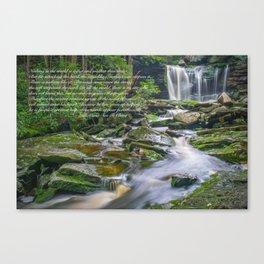 Lao Tsu Quote Zen Waterfall Print Canvas Print