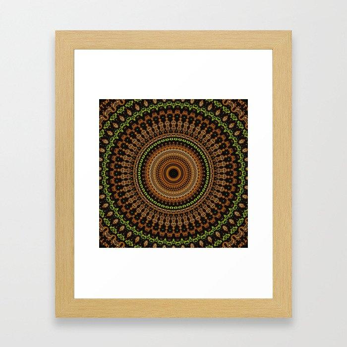 Fractal Kaleido Study 002 in CMR Framed Art Print