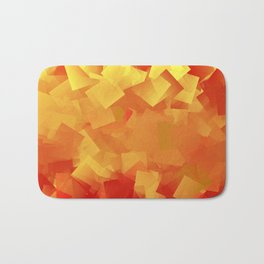 Cubism in orange Bath Mat
