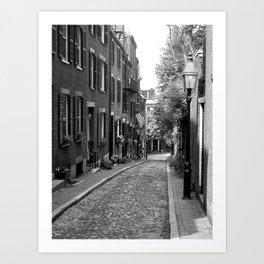 Acorn Street, Boston MA Art Print