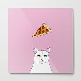 Fat D. Loves Pizza Metal Print