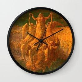 L'Assunzione (Assunta) The Resurrection by Gaetano Previati Wall Clock
