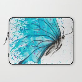 Aqua Butterfly Laptop Sleeve