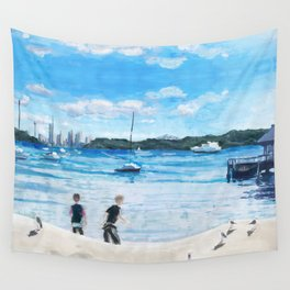 Blue Sky Wall Tapestry