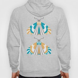 Moths - Blue and Orange Hoody