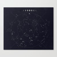 constellations Canvas Prints featuring Constellations by Seana Seeto