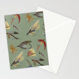 Fly fishing with hand tied lures! Stationery Cards