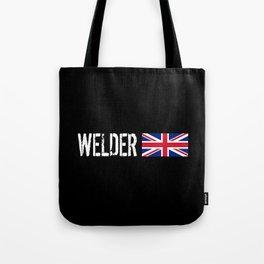 Welder: British Flag Tote Bag