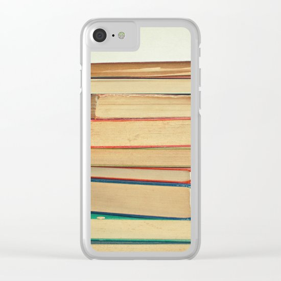 Stack of Books Clear iPhone Case