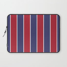 Large Red White and Blue USA Memorial Day Holiday Vertical Cabana Stripes Laptop Sleeve