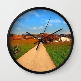 Hiking through a peaceful scenery III | landscape photography Wall Clock