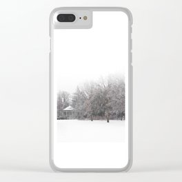 Winter in the Park III Clear iPhone Case