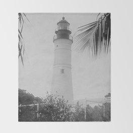 Key West Lighthouse Throw Blanket