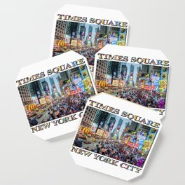 Times Square Tourists (with type) Coaster