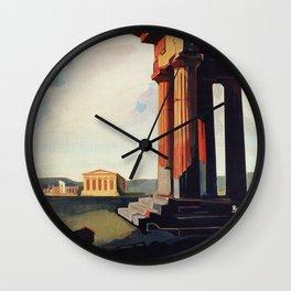 Vintage 1920s Agrigento Italian travel ad Wall Clock