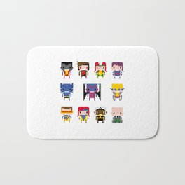 Pixel X-Men Bath Mat