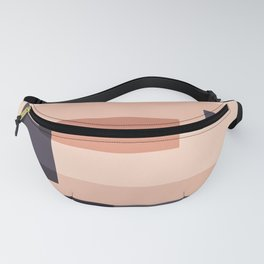 Overlay in Peach and Black Fanny Pack