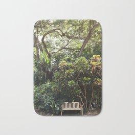The Reading Bench & The Croton Tree Bath Mat