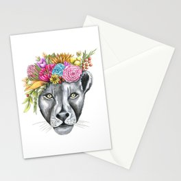 Lioness with Flower Crown Stationery Cards