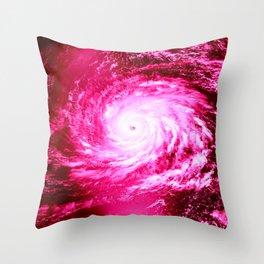 Pink Hurricane Throw Pillow