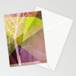 P22 TREES AND TRIANGLES Stationery Cards
