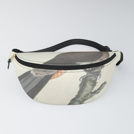 Chinese Mapgie pica sinensis2 Fanny Pack