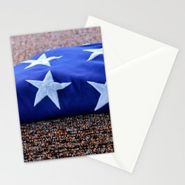 American Flag Folded Stationery Cards