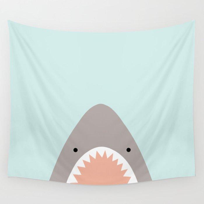 shark attack Wall Tapestry