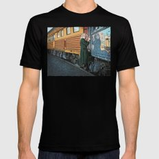 A Departure Black Mens Fitted Tee MEDIUM