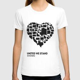 United We Stand - Black & White T-shirt