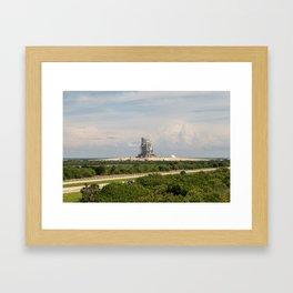 Rocket launch pad Framed Art Print