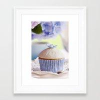 cupcake Framed Art Prints featuring CUPCAKE by Ylenia Pizzetti